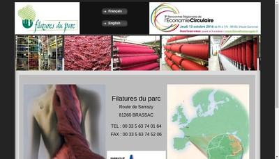 Site internet de Filatures du Parc