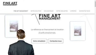 Site internet de Fine Art Management