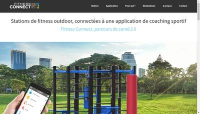 Site internet de Fitness connect