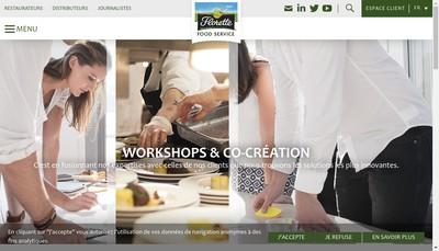 Site internet de Florette Food Service France