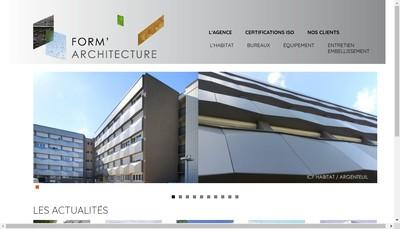 Site internet de Form'Architecture