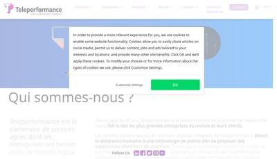 Site internet de Téléperformance