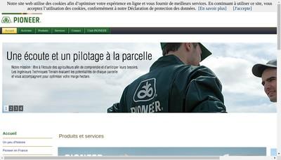 Site internet de Pioneer Genetique SARL