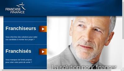 Site internet de Franchise Finance