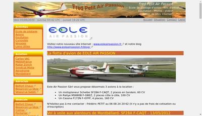 Site internet de Fred Petit Air Passion