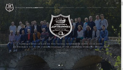 Site internet de Fromagerie d'Entrammes