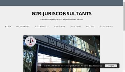 Site internet de G2R-Jurisconsultant