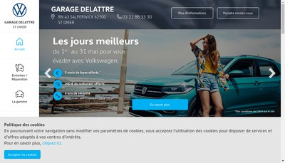 Site internet de Garage Delattre