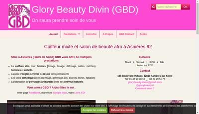 Site internet de Glory Beauty Divin (GBD)