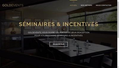 Site internet de Goldevents