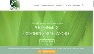 Site internet de Goodwill Management