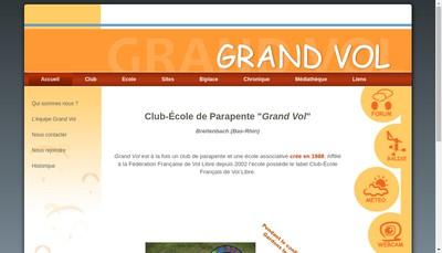 Site internet de Club Ecole de Parapente - Grand Vol