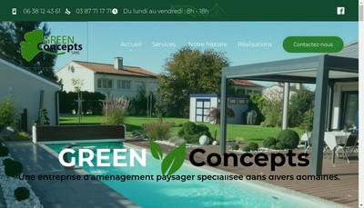 Site internet de Green Concepts