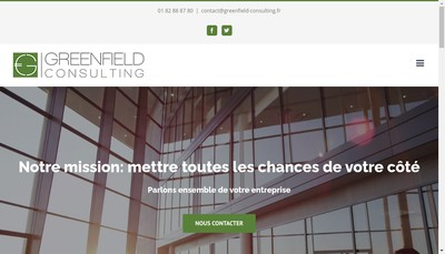 Site internet de Greenfield Consulting