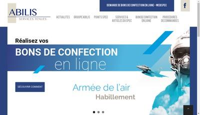 Site internet de Abilis