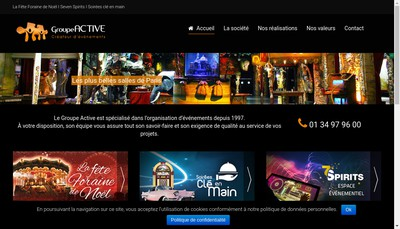 Site internet de Groupe Active-Active Animation-Active Events-Active Evasion