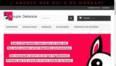 Site internet de Groupe Delarace