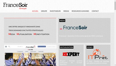 Site internet de France Soir Groupe