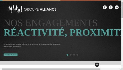 Site internet de Groupe Alliance