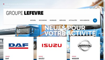 Site internet de Groupe Lefevre