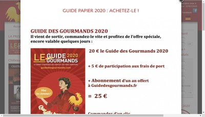 Site internet de Gourmands & Go