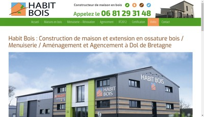 Site internet de Habit Bois