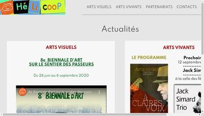 Site internet de L'Helicoop