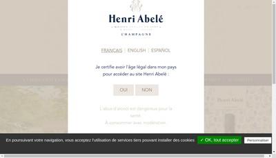 Site internet de Champagne Henri Abele