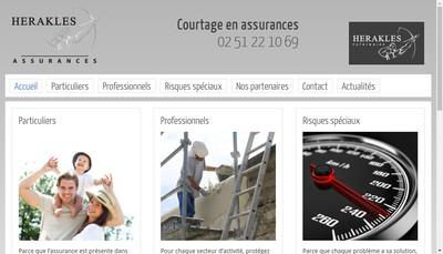 Site internet de Herakles Assurances