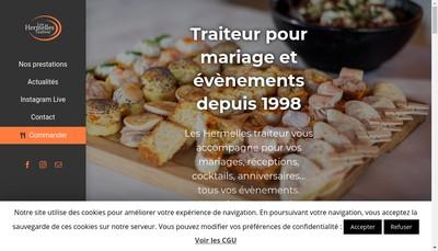 Site internet de Les Hermelles Traiteur