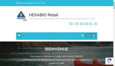 Site internet de Hexabio