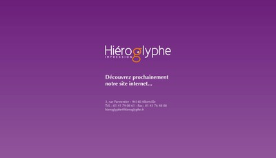 Site internet de Hieroglyphe