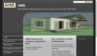 Site internet de Hmb Habitations Modulaires Bois