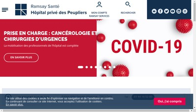 Site internet de Hopital Prive des Peupliers