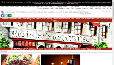 Site internet de Hostellerie de la Vallee