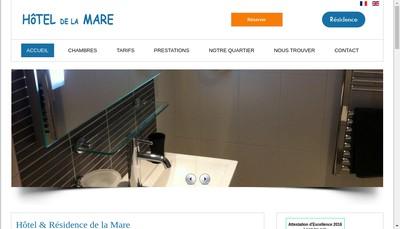 Site internet de Hotel de la Mare