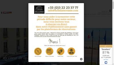 Site internet de Hotel la Terrasse