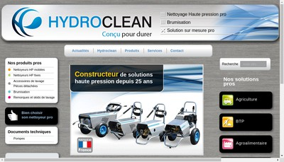 Site internet de Hydroclean