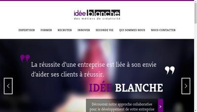 Site internet de Idee Blanche Conseil