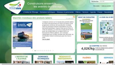 Site internet de Institut de l'Elevage