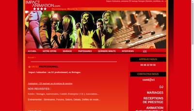 Site internet de Impact Animation