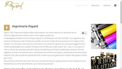 Site internet de Imprimerie Payard
