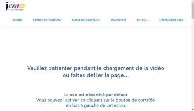 Site internet de Icma Imprimeur
