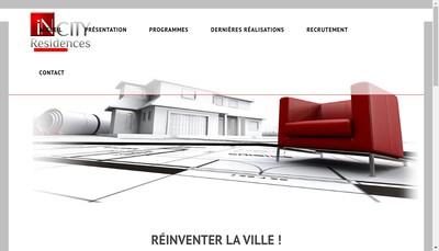 Site internet de Incity Residences