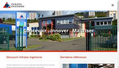 Site internet de Infratec Ingenierie