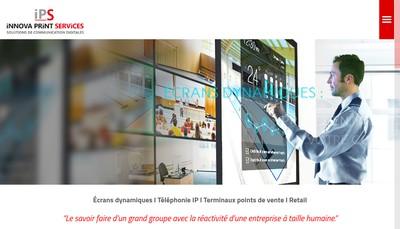 Site internet de Innova Print Services 13 Nord