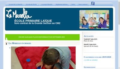 Site internet de La Marelle