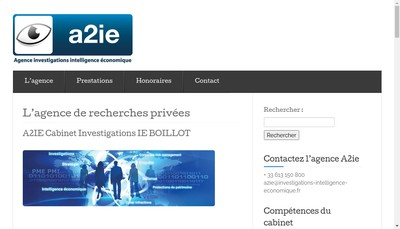 Site internet de A2Ie Cabinet Boillot