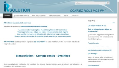 Site internet de Irp Solution