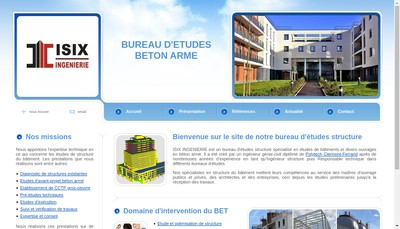 Site internet de Isix Ingenierie